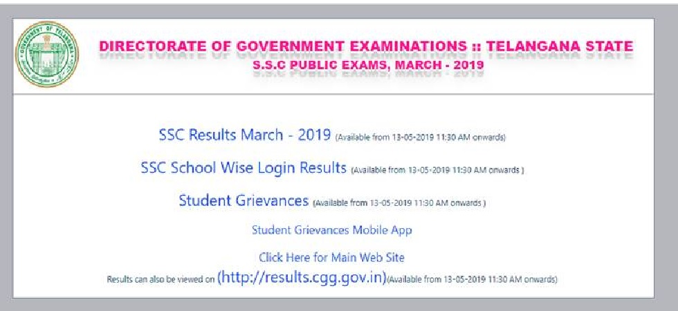 ANNOUNCED! Manabadi TS SSC Results 2019 LIVE NOW: Telangana board